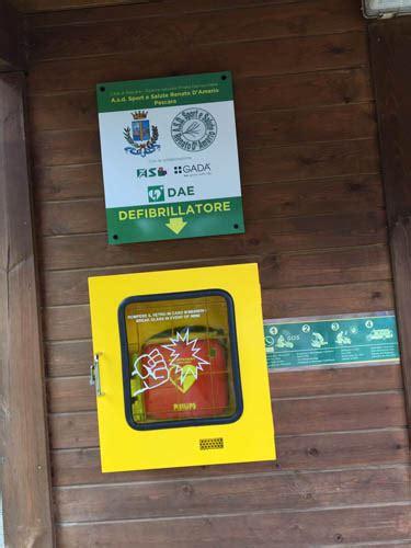 defibrillatore interno rubato il defibrillatore operativo dentro la riserva