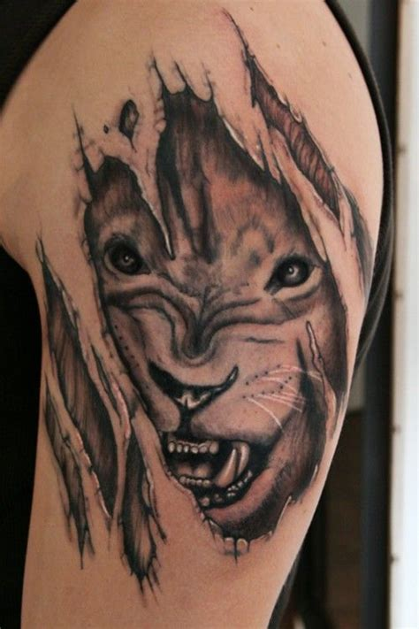 3d lion tattoo designs powerful design 3d design