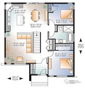 house plan w3135 v1 detail from drummondhouseplans com 2 bedroom house plans with open floor plan bungalow with