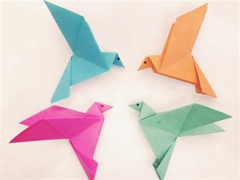 How To Make Birds Out Of Paper - how to make a paper bird easy origami t s