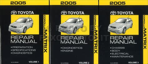 toyota corolla matrix wiring diagram manual original