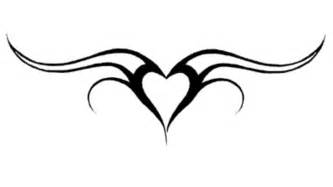 heart with tribal tattoos tribal black design