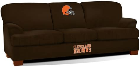 couch cleveland browns cleveland browns first team microfiber sofa
