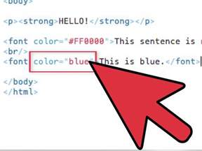 how to change font color in html how to change text color in html with exles wikihow