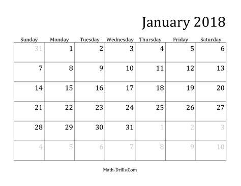 2018 Monthly Calendar Template   2018 calendar with holidays