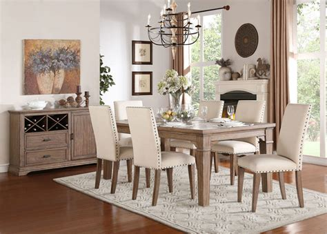 rustic dining room furniture sets homelegance 5108 84 mill valley rustic dining room set