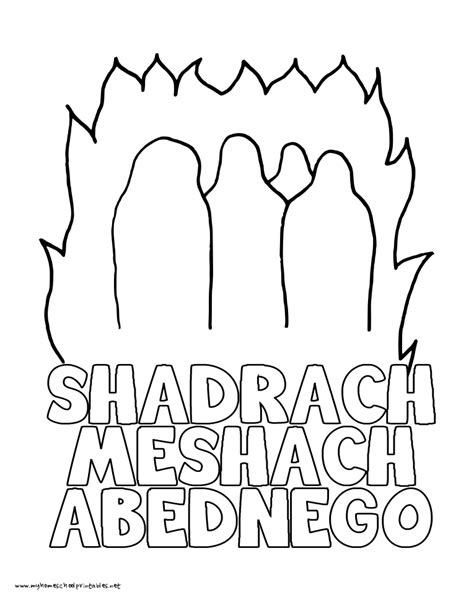 Free Coloring Pages Of Fiery Furnace Shadrach Meshach And Abednego Coloring Page