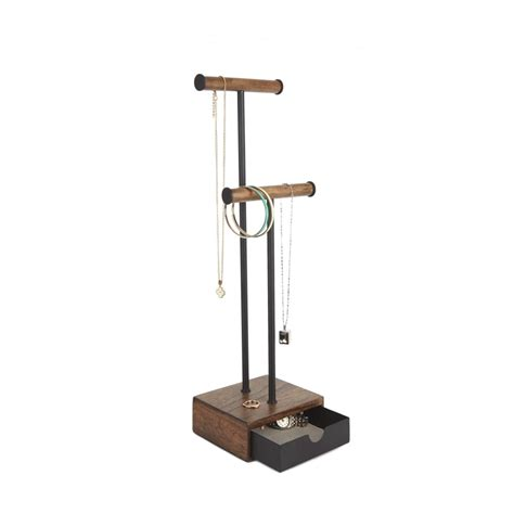 Jewellery Racks Stands by Umbra Pillar Jewellery Stand In Black And Walnut Black