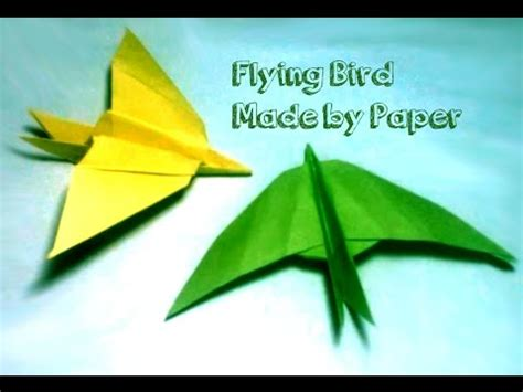 How To Make Flying Bird With Paper - how to make a paper flying bird origami bird a simple