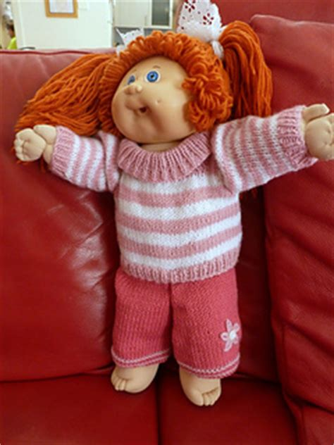 free knitted cabbage patch doll clothes patterns ravelry cabbage patch doll clothes pattern by tromp