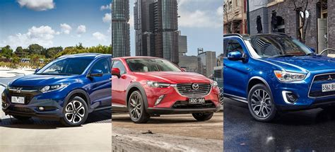 mazda mitsubishi honda hr v vs mazda cx 3 vs mitsubishi asx which small