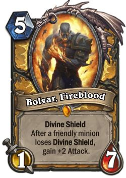 Legendary Paladin Deck by Bolvar Fireblood Hs Paladin Legendary Card Hs Decks And