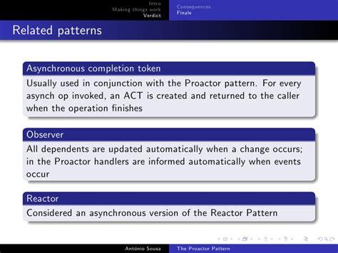 observer pattern interrupt the proactor pattern