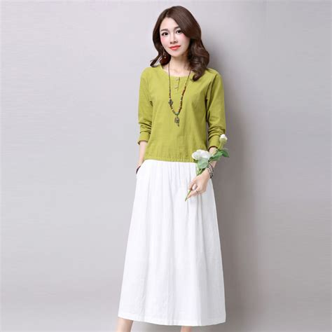 top and skirt set autumn two set a line vintage linen t shirt and skirt