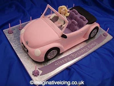 Ee  Birthday Ee    Ee   S Ee   Pink Car Cake Imaginative Icing Cakes