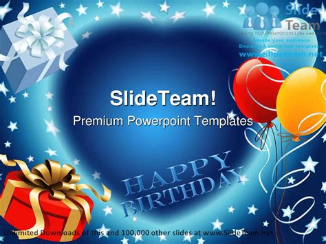 powerpoint template birthday happy birthday events powerpoint templates themes and