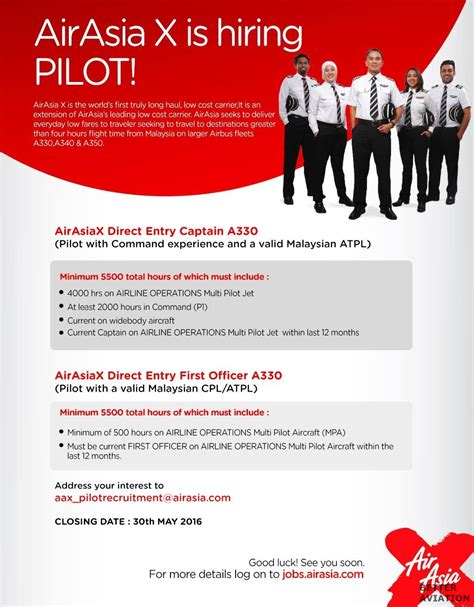 airasia malaysia career airasia x direct entry captain a330 better aviation