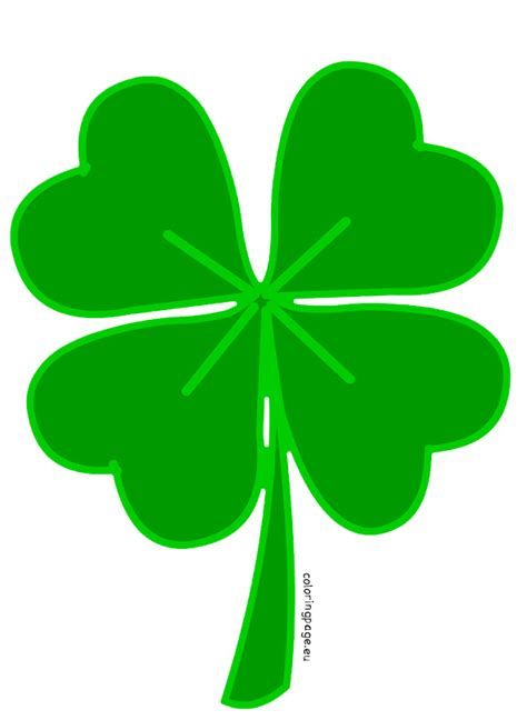 four leaf clover clip 4 leaf clover template clipart best