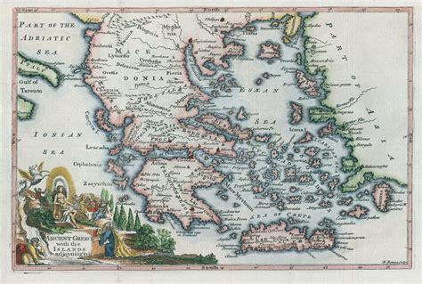 Stock Images High Resolution Antique Maps Of Historical Antique Greece To Color