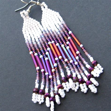 beadwork earrings beaded earrings seed bead earrings