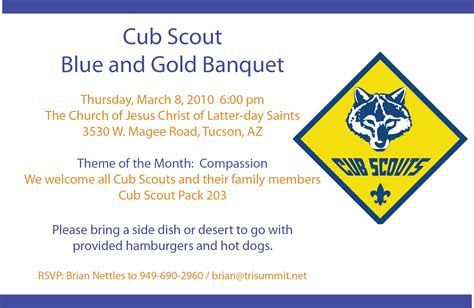 6 best images of blue and gold banquet template cub