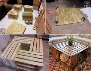 Diy crate coffee table diy 6 crates pallet black coffee table diy x