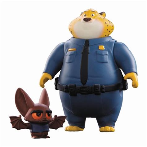 Tomy Zootopia Clawhauser And Bat Eyewitness Zootopia Clawhauser And Bat Eyewitness Mini Figure 2 Pack