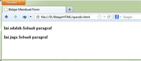 css tutorial span tutorial belajar html perbedaan tag span dan tag div
