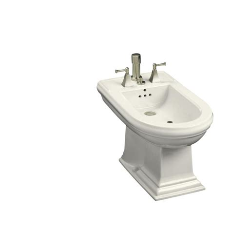 bidet lowes shop kohler memoirs 15 in h biscuit elongated bidet at