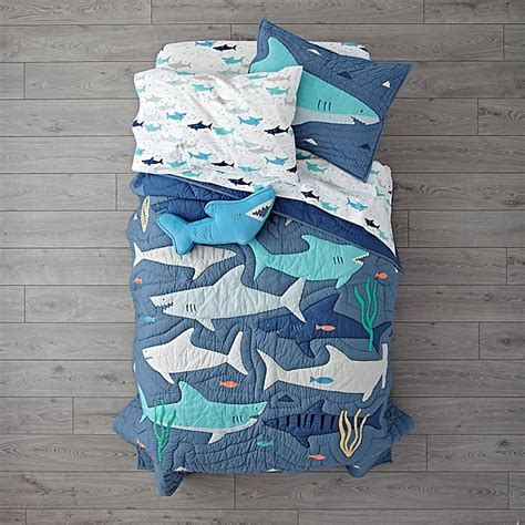 Shark Bait Bedding The Land Of Nod Shark Crib Bedding