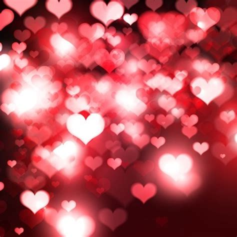 hearts bokeh light valentine s day background free