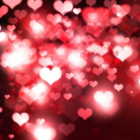 hearts bokeh light valentine s day background free