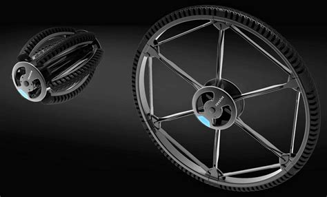 designboom wheel revolve reinvents the wheel to create folding airless