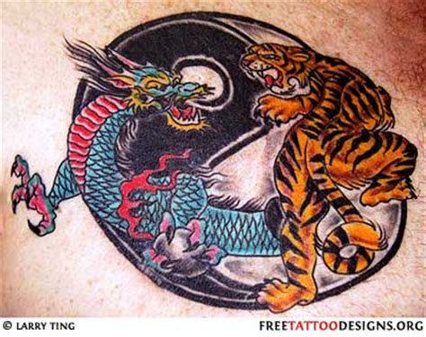 dragon and tiger tattoo designs tattoos