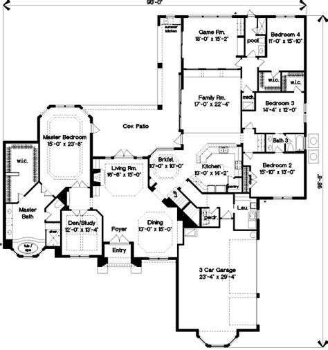 home plan homepw10890 4464 square foot 5 bedroom 4 italian house plan 4 bedrooms 4 bath 4464 sq ft plan