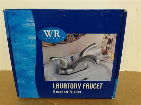 Water Ridge Bathroom Faucet by New Water Ridge Brushed Nickle Lavatory Bathroom Faucet