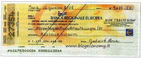 banca trattaria assegno norme particolari e mancato pagamento di un assegno