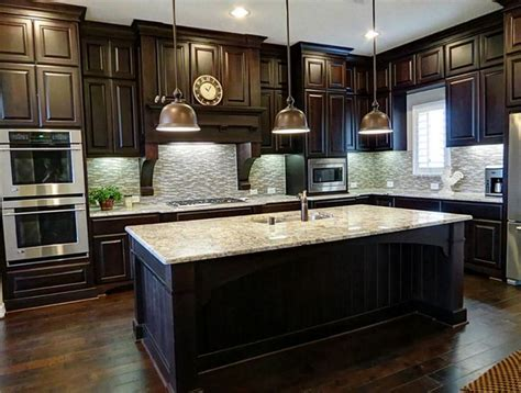Dark Wood Cabinet Kitchens | painting dark wood kitchen cabinets white dark wood