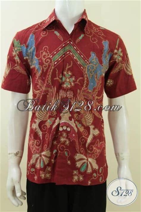 Hem Batik Tulis Pendek F60417022bru Kemeja Batik Terbaru Murah kemeja batik tulis harga grosir hem batik lengan pendek halus motif trendy khas anak muda size