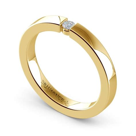 flat promise ring with in yellow gold 2 75mm