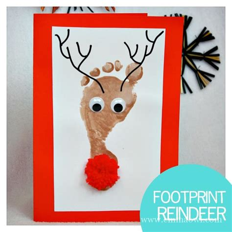reindeer cards to make reindeer footprint cards all you need is a