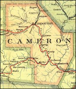 cameron county pennsylvania railroad stations