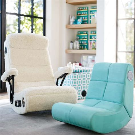 mini rocker chair suede mini rocker speaker chair pbteen
