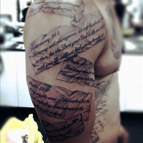 50 bible verse tattoos for men scripture design ideas