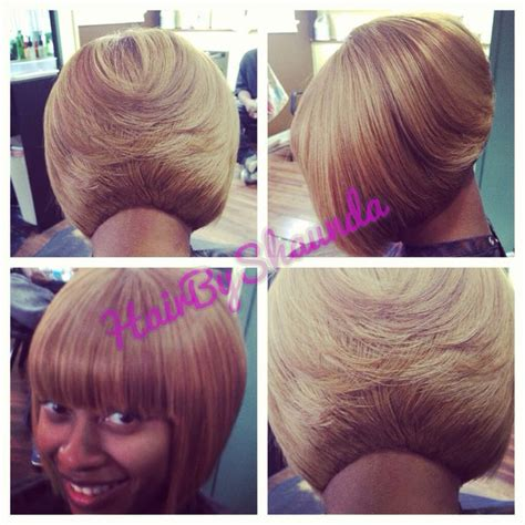 how to cut a bob weave short hair cut for black women quick weave bob blonde