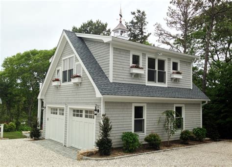Cape Cod Garage detached garage with loft and deck capewide enterprises