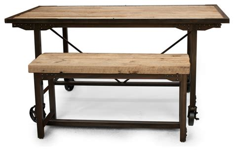 rustic dining room table with bench rustic farmhouse reclaimed wood dining room table and bench