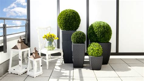 porta vasi portavasi alti eleganza e design minimal in giardino