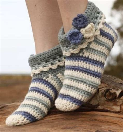 crocheted slipper patterns crochet slippers best collection the whoot