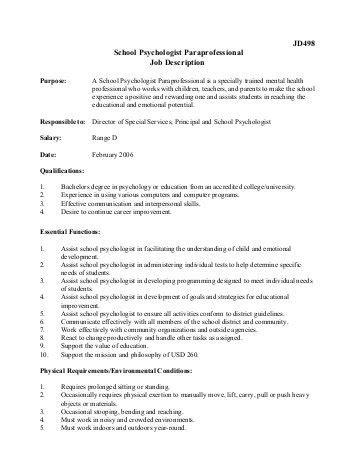 jd469 media paraprofessional description